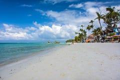 Sławna biel plaża na Boracay wyspie, Filipiny Zdjęcie Royalty Free
