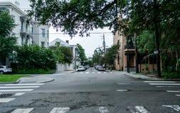 Sławna bourbon ulica, Nowy Orlean, Luizjana Południowy miasto po deszczu fotografia royalty free