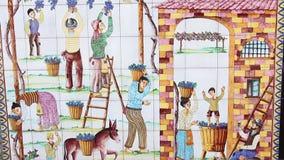 Sławna ceramika produkowana ręcznie w ulicznym sklepie z pamiątkami zbiory