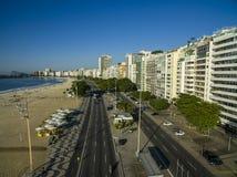 Sławna Copacabana plaża w Rio De Janeiro Brazylia Ameryka Południowa obraz stock