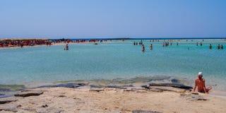 Sławna elafonisi plaża, Crete, Grecja Obraz Royalty Free