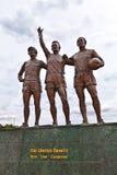 Sławna futbolista statua przy Manchester United obraz stock