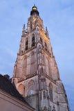 Sławna iluminująca katedra przy Breda, holandie obrazy royalty free