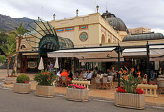 Sławna kawiarnia de Paryż w Monte, Carlo -, Monaco Obrazy Stock