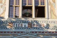 Sławna Lello i Irmao księgarnia w Porto, Portugalia obrazy royalty free