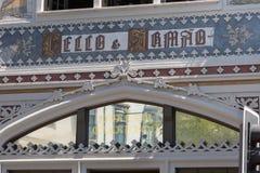 Sławna Lello i Irmao księgarnia w Porto, Portugalia fotografia royalty free