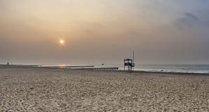Sławna Lido plaża Wenecja w ranku świetle Fotografia Royalty Free
