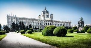 Sławna muzeum sztuki historia w Wiedeń, Austria obrazy stock
