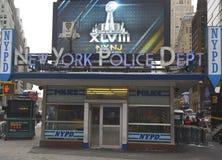 Sławna NYPD times square dzielnica w środku miasta Manhattan Zdjęcie Royalty Free