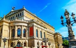 Sławna opera w Frankfurt magistrala - Am - zdjęcia royalty free