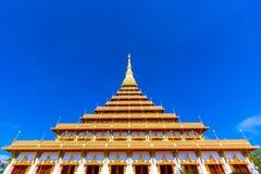 Sławna pagoda w świątyni przy Tajlandia fotografia royalty free