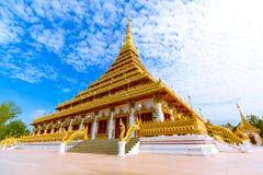 Sławna pagoda w świątyni przy Tajlandia zdjęcia stock