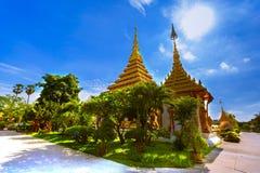 Sławna pagoda w świątyni przy Tajlandia obraz stock