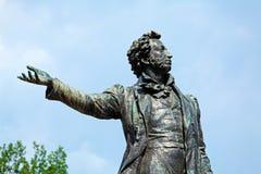 Sławna poety Aleksander Pushkin statua, święty Petersburg Obrazy Royalty Free