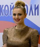 Sławna Rosyjska aktorka Maria Kozhevnikova i polityk obraz royalty free