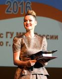 Sławna Rosyjska aktorka Maria Kozhevnikova i polityk zdjęcia royalty free