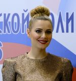 Sławna Rosyjska aktorka Maria Kozhevnikova i polityk fotografia stock