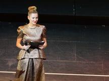Sławna Rosyjska aktorka Maria Kozhevnikova i polityk fotografia royalty free