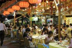 Sławna saigon owoce morza restauracja Obraz Stock