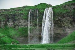 Sławna Seljalandsfoss siklawa w południowym Iceland Obraz Stock