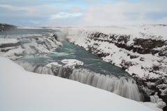 Sławna siklawa Gullfoss, Iceland Zdjęcia Royalty Free