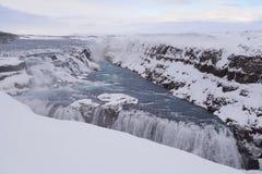 Sławna siklawa Gullfoss, Iceland Obraz Stock