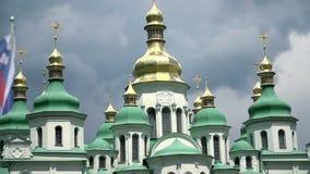 Sławna St Sophia katedra w Kijów, Ukraina zdjęcie wideo