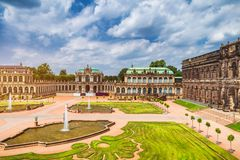 Sławna Zwinger pałac galeria sztuki Dres (Dera Dresdner Zwinger) Obraz Stock