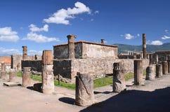 Sławne antykwarskie ruiny grodzki Pompeii w południowym Italy Fotografia Royalty Free