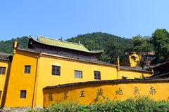 Sławne góry jiuhuashan Chiński buddyzm Obrazy Royalty Free