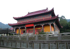 Sławne góry jiuhuashan Chiński buddyzm Fotografia Royalty Free