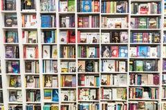 Sławne książki Dla sprzedaży Na Bibliotecznej półce Obraz Stock