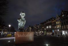 Sławne rzeźby Amsterdam centrum miasta Generał kształtuje teren widok miasto zabytki & sztuka protestuje Zdjęcie Royalty Free