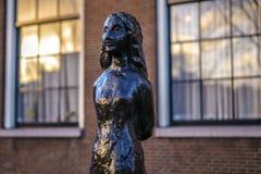 Sławne rzeźby Amsterdam centrum miasta Generał kształtuje teren widok miasto zabytki & sztuka protestuje Obraz Royalty Free