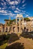 Sławne rzymianin ruiny w Rzym, stolica Włochy zdjęcia stock