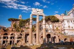 Sławne rzymianin ruiny w Rzym, stolica Włochy Zdjęcie Stock