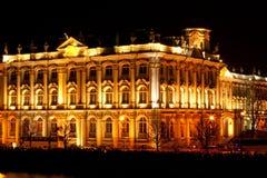 sławnego ermitażu muzealna pałac ru stan zima Zdjęcie Stock