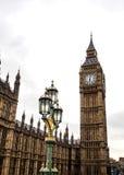 Sławnego Londyńskiego punktu zwrotnego Big Ben zegarowy wierza Obraz Royalty Free
