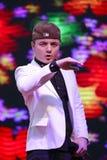 Sławnego męskiego piosenkarza arerfa arersilan śpiew obrazy royalty free
