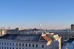 Sławni budynki i architektura Wiedeń w Austria Europa zdjęcia royalty free