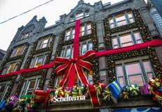 Sławni budynki i miejsce Amsterdam centrum miasta przy słońce ustalonym czasem Generała krajobrazu widok Zdjęcie Royalty Free