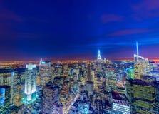 Sławni drapacze chmur Nowy Jork Zdjęcie Stock