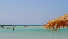 Sławni elafonis wyrzucać na brzeg, Crete, Grecja Zdjęcie Stock