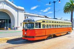 Sławni miasto tramwaje w San Francisco fotografia stock