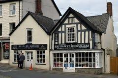 Sławni Wye księgarzi, siano, Herefordshire obrazy royalty free