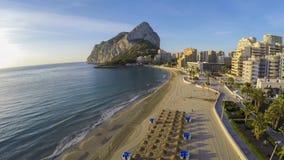Sławny Śródziemnomorski kurort Calpe w Hiszpania, OSZAŁAMIAJĄCO wideo TAKŻE/ Obrazy Royalty Free