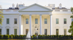 Sławny adres w Stany Zjednoczone 7, 2017 - Biały dom - washington dc KOLUMBIA, KWIECIEŃ - Obraz Royalty Free