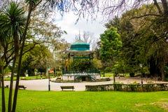 Sławny bandstand Jardim da Estrela, popularny ogród w centre Lisbon, Portugalia zdjęcia royalty free