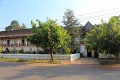 Sławny Barangaza rodziny dom w Chandor Goa India zdjęcia stock