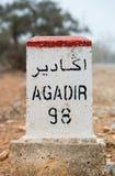 Sławny biały i czerwony drogowy znak, Maroko Obrazy Stock